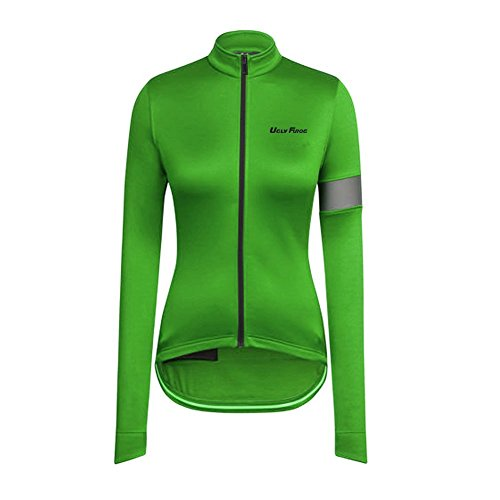 Stripe Long Sleeve Thermal (Uglyfrog 2019 WLS06 New Winter Thermal Fleece Women's Long Sleeve Cycling Jerseys Outdoor Sports Wear Classical Bike Shirts Bicycle Tops Triathlon Clothing)