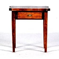 Dollhouse Furniture- Hepplewhite Serpentine Table/ Circa 1780-1800 #40036 Assembled and Stained Maho