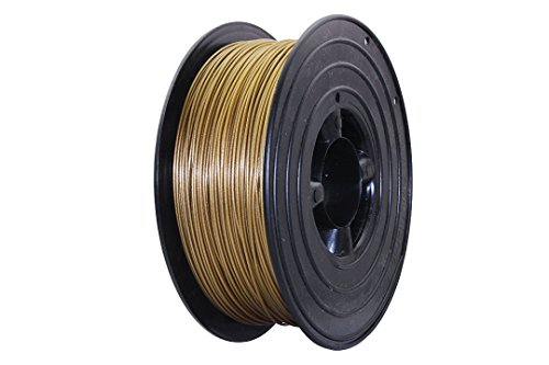 3D Filament 1kg B-Ware Filament Rolle in verschiedenen Farben Rot Gold Silber Grün Blau Braun Lila Violett Beige Transparent Gelb Orange Schwarz Weiß (Gold (B-Ware)) - Gewicht Papier Owl