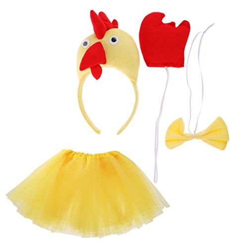 Gazechimp Kind Tier Kostüm Set für Halloween Karneval Fasching - (Rock Kostüm Halloween Chick)