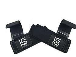 LEGEND Power-Zughaken für Profis - Neopren & Klettverschluss - 2er Set - Powerlifting Zughaken