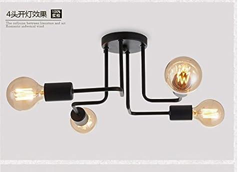 PinWei@Spinnen, speichern Geckos Decke Lampe, Coffee-Shops/Bekleidung, Wohnzimmer Deckenleuchten, gebogene Rohr Deckenleuchte Deckenleuchte,4