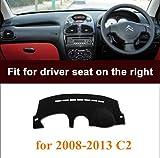 RHD Funda para salpicadero, antideslizante, alfombrilla para coche para Citroen C2 2008 – 2013