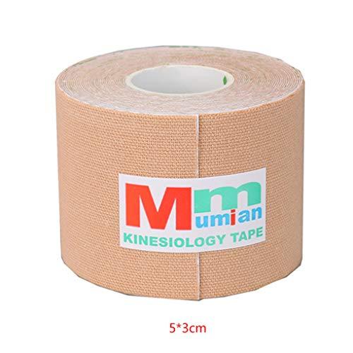Uzinb 3 Meter 5cm Adhesive sportliche Band Muskelzerrung Schutz elastische Baumwolle Bandage Rolle Sport Goods -