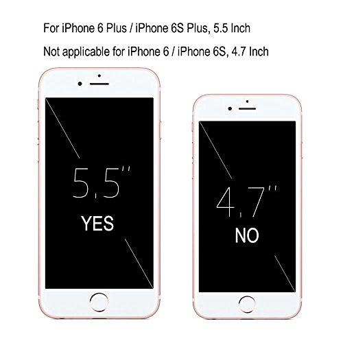 iPhone 6 Plus / iPhone 6S Plus Custodia Pelle, Billionn Una varietà di immagini sveglie del fumetto Cover Filp con Disegno Supporto Stand, Porta Carte e Protettiva Flip Portafoglio Case con chiusa Mag Magnolia fiore
