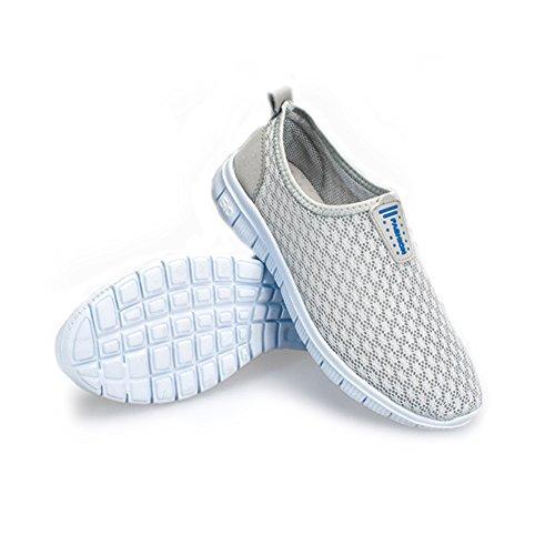 Eagsouni® Herren Breathable Ineinander greifen Aqua Wasser Schuhe Schnell Trocknend Schwimmschuhe Grau