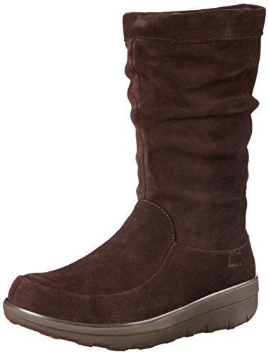 FitFlop - Loaff Slouchy Knee, Stivali Donna Marrone (Marrone (Dark Brown))