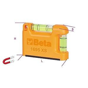 Beta 016950250-1695Xs-Nivel De Bolsill, Base Magnético
