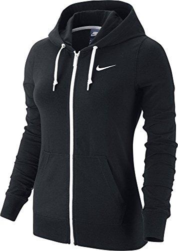 nike-veste-jersey-capuche-et-fermeture-clair-intgrale-pour-femme-m-noir-noir-blanc