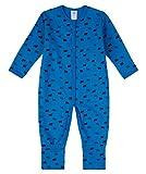 Sanetta Jungen Baby Strampler mit Klappfüßen azur (293) 62