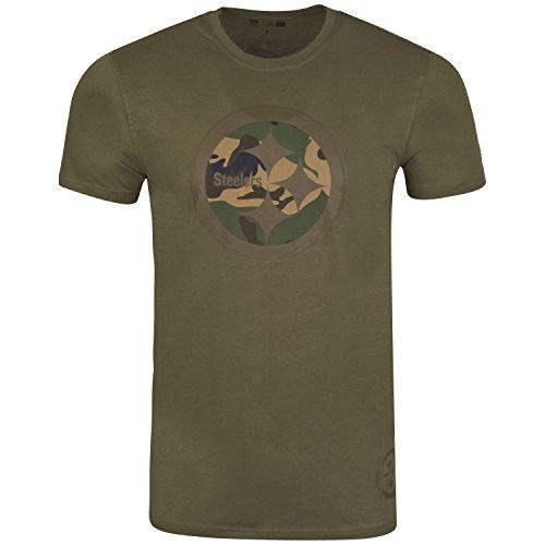 New Era Herren Oberteile/T-Shirt Pittsburgh Steelers Olive 3XL (Pittsburgh 3xl Steelers)