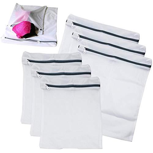 Preisvergleich Produktbild TAOtTAO 3 STÜCKE klein + 3 stück mittlere verdickung feinmaschigen wäschesack grauer reißverschluss 6 Pack Wäscheservice Mesh Net Waschsack Kleidung BH Sox Dessous Socken Unterwäsche