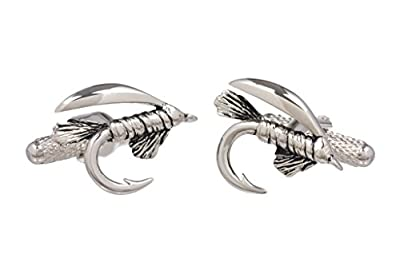 Cufflinks - Anglers Fly Fishing Flies Cufflinks in a Black Cufflink Case