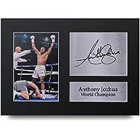 Anthony Joshua Los Regalos Firmaron A4 la Dedicatoria Impresa Boxeo La Foto de Impresión Imagina la Demostración