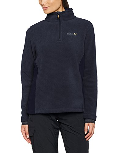 Regatta Great Outdoors Damen Embraced Fleece-Top mit Reißverschluss (42 DE) (Marineblau)