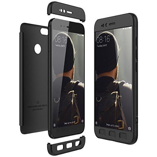 CE-Link Funda Xiaomi Mi 5X / Xiaomi Mi A1 Carcasa Fundas para Xiaomi Mi 5X / Xiaomi Mi A1 360 3 en 1 Desmontable Ultra-Delgado Anti-Arañazos Case Protectora - Negro