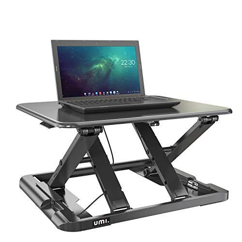Umi. Essentials Höhenverstellbarer Ergonomischer Sitz-/Stehschreibtisch-Arbeitsplatz für Laptop...