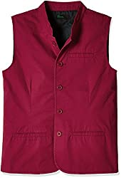 United Colors of Benetton Boys Coat (16A2JACK0022IK18EL_Maroon)