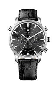 Reloj Tommy Hilfiger 1790875 de cuarzo para hombre con correa de piel, color negro de Tommy Hilfiger