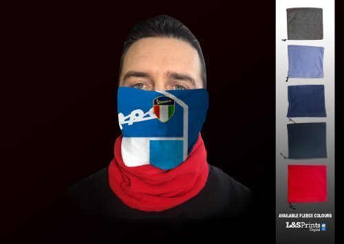 VESPA BLAU GOLD SHIELD MASKE MIT FLEECE NECKTUBE FACEMASK NACKENWÄRMER SNOOD Gold-snood