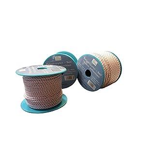 Seil auf Rolle - 4 mm x 100 m weiß/blau/rot Polypropylenseil PP, Festmacherleine, Allzweckseil, Strick, Leine, Flechtleine - Bruchlast: 180 kg - 100 m - Rolle (€ 0,14/m)