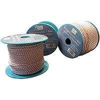 6mm Flechtleine - Seil auf Rolle - 6 mm x 50 m weiß / blau / rot Polypropylenseil PP, Festmacherleine, Allzweckseil, Strick, Leine, Flechtleine - Bruchlast: 380 kg - 50 m - Rolle