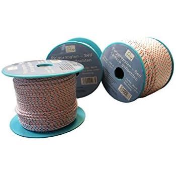 Kacperek Polypropylenseil 10m//16mm 2100kg Polypropylen Seil Reepschnur Leine Tau Schnur Festmacher Rope