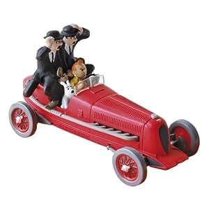 Tim und Struppi Tintin Figur Roter Sportwagen, ca. 8cm