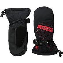 Spyder Boy 's Overweb Ski manoplas, Niños, Overweb, negro/ rojo