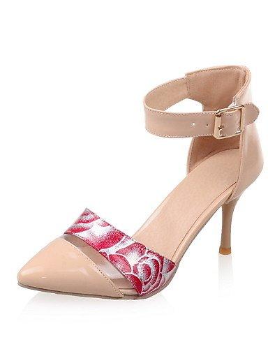 WSS 2016 Chaussures Femme-Habillé-Noir / Rose / Blanc / Or / Amande-Talon Aiguille-Bout Pointu-Talons-Similicuir white-us10.5 / eu42 / uk8.5 / cn43