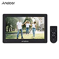 ‏‪Anself Andoer 11.6 Inch Digital Photo Frame IPS Full View Screen Eletronic Picture Album High Resolution Support 1080P HD Video AV Input Clock with Motion Sensor Remote Control (Black)‬‏