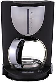 Black & Decker 800W 15 Cup Coffee Maker, Black, DCM80-B5, 2 Year Warr