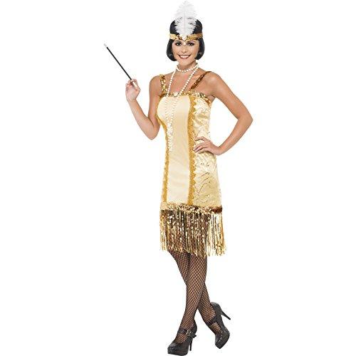 Imagen de smiffy's  disfraz de charlestón años 20s para mujer, talla l 29188l