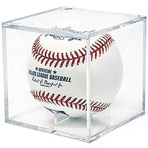 AIFUSI Baseball-Display, quadratisch, Acryl-Baseball-Halter, durchsichtige Box