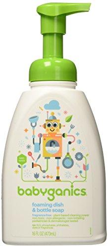 Schäumende Dish Flasche Seife, ohne Duft, 16 Flüssigunzen (473 ml) - BabyGanics (Schäumende Seife Flaschen)