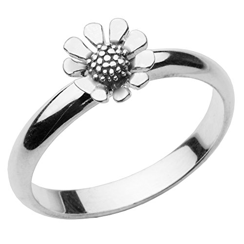 925 Sterling Silver Flower Ring Ladies Girls