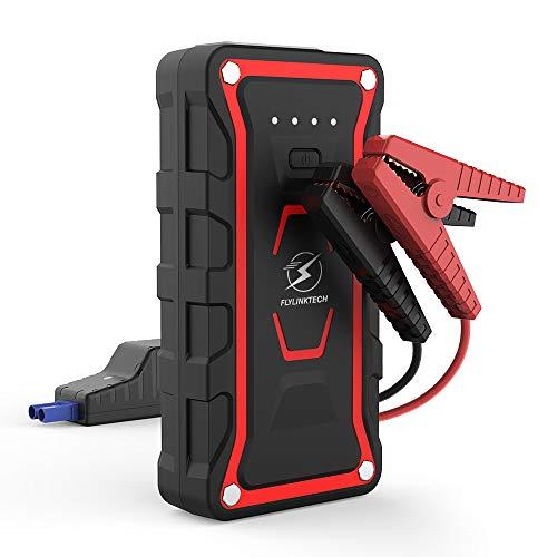 FLYLINKTECH Booster Batterie -1500A 20000mAh IP68 Étanche Portable Jump Starter, Démarrage de Voiture (Toute Essence, jusqu'à 7.0L Diesel), LED Lampe, Deux USB Port, Charge Rapide, UL Certifié...