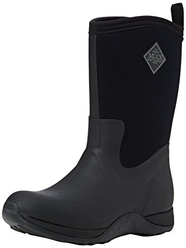 Muck Boots Damen Arctic Weekend Arbeits-Gummistiefel, Black (Black 000), 43 EU (Stiefel Weather Cold Fashion)