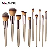 MAANGE 10 Pieces Pennelli per il Trucco Set Eyeliner Powder liquido Makeup Brushes Cosmetics-Pennello
