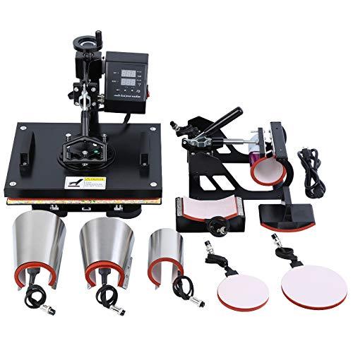MuGuang 8 in 1 Hitze Presse Maschine Digitale Übertragung Sublimation Becher T-Shirt Platte Kappe Hut Heat Press Machine 15