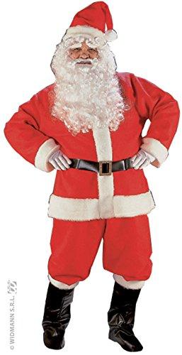 Widmann WDM1546S - Costume Per Adulti Babbo Natale Super Lusso (Osfma), Rosso, Taglia Unica