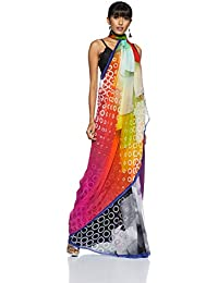 Satya By Satya Paul Georgette Saree with Blouse Piece