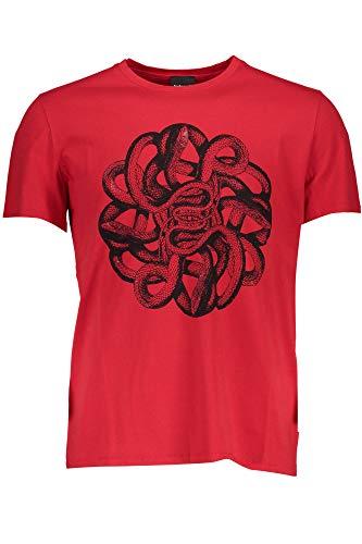 Just Cavalli S01GC0542 T-Shirt mit kurtzen Ärmeln Harren Rosso 307 M