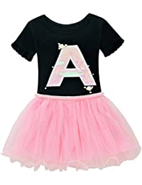 8491d10faef9 chicnchic Baby Toddler Girls Clothes Ruffle Sleeve Sequins t-Shirt Tutu  Skirt Dress Outfits Set