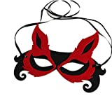 Masque d'Halloween Masque d'animal de spectacle de fournitures Demi-Masque visage décoration de fête pour hommes femmes enfants et adultes