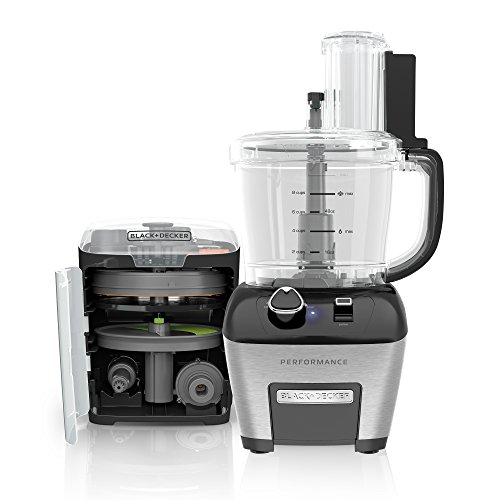 Analog dial controls : BLACK+DECKER FP6000 Performance Dicing Food Processor, Stainless Steel