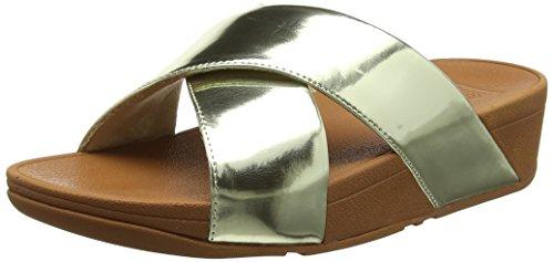 FitFlop Damen LULU Cross Slide Mirror Sandalen, Gold 301, 39 EU -