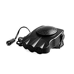 Portable Car Heater, XGZ 12V Car Vehicle Heating Cooling Fan Defroster Demister (150W 3 Outlet) - Black
