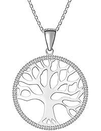 """ATMOKO Collar Mujer, """"Árbol de la Vida"""", Plata de Ley 925, Regalo Perfecto de Mujer y Niña, para Mamá, Esposa, Novia, Hermanas"""