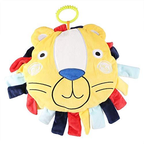 Baby Cartoon Weiche Kissen Kleinkind Trösten Tiere Kissen Runde Boden Sitzmatte Kid Krabbeln Plüsch Spiel Pad (Gelb Voll Bettwäsche)